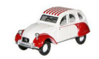 Oxford Diecast Citroen 2CV Red and White - 76CT003