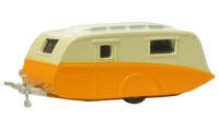 New Modellers Shop - Oxford Diecast - Orange and Cream Caravan -76CV001