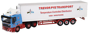 76DAF004 - Oxford Diecast DAF 85 Short Fridge Trailer Trevor Pye