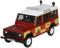 New Modellers Shop - Oxford Diecast Land Rover Station Wagon, Gloucestershire Fire and Rescuet - 76DEF006