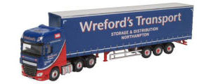 76DXF002 - Oxford Diecast - DAF XF Euro 6 Curtainside Wrefords