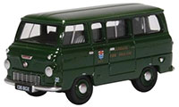 76FDE016 - Oxford Diecast Ford 400E Mini Bus - London Fire Brigade (Green)