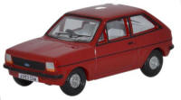 Oxford Diecast Ford Fiesta MkI - Venetian Red  - 76FF001