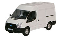Oxford Diecast Ford Transit - White Frozen - 76FT001