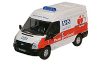 New Modellers Shop - Oxford Diecast - Ford Transit SWB Med NHS Blood Donor Van - 76TF008
