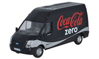 Oxford Diecast Ford Transit LWB High Roof Coke Zero - 76FT017CC
