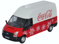 Oxford Diecast - Ford Transit LWB High Coca Cola Christmas - 76FT030CC