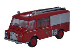Oxford Diecast Land Rover FT6 Carmichael Cheshire County Fire Brigade - 76LRC001