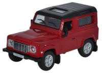 Oxford Diecast Land Rover Defender 90 Station Wagon - Firenze Red / Santorini Black - 76LRDF004