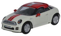 Oxford Diecast - Mini Coupe - Pepper White and Chilli Red - 76MC001