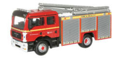 New Modellers Shop - Oxford Diecast - MAN Pump Ladder - Avon Fire and Rescue - 76MFE001