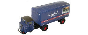 Oxford Diecast - LNER Mechanical Horse Van Trailer - 76MH004
