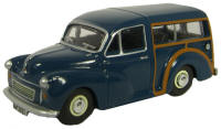 New Modellers Shop - Oxford Diecast -  Trafalgar Blue Morris Minor Traveller - 76MMT002