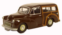New Modellers Shop - Oxford Diecast -  Maroon Morris Minor Traveller - 76MMT003