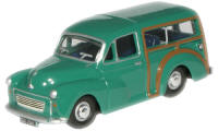 New Modellers Shop - Oxford Diecast -  Aqua Green Diecast Morris Minor Traveller - 76MMT005