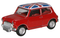 Oxford Diecast - Red Union Jack Austin Mini - 76MN001