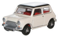 Oxford Diecast - Old English White / Black Austin Mini - 76mn002