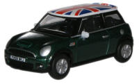 New Modellers Shop - Oxford Diecast New Mini - British Racing Green with Union Flag Roof - 76NMN005