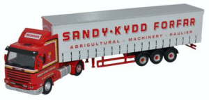 Oxford Diecast Scania 113 - Short Curtainside Sandy Kydd - 76S143004