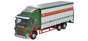 Oxford Diecast Scania 94D Curtainside H E Payne - 76S94002
