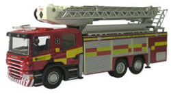 Oxford Diecast -  Strathclyde Fire & Rescue Aerial Rescue Pump - SAL001
