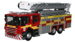 Oxford Diecast Mid and West Wales Fire & Rescue Aerial Scania Pump Fire Engine - 76SAL004