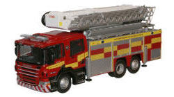 Oxford Diecast Northamptonshire Fire & Rescue Aerial Scania Pump Fire Engine - 76SAL005