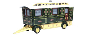 76SCV002 - Oxford Diecast Showmans Caravan in Green
