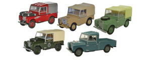 Oxford Diecast Land Rover 5 Piece Set - 76SET17C