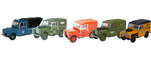 Oxford Diecast Land Rover 5 Piece Set - 76SET17D
