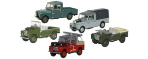 Oxford Diecast Land Rover 5 Piece Set - 76SET17E
