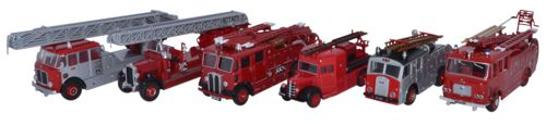 Oxford Diecast 6 Piece Set 150 Years of London Fire Appliances - 76SET31