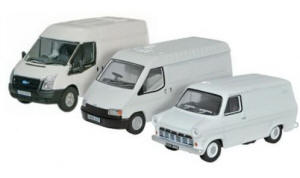 Oxford Diecast Ford Transit 50th anniversary Mk1 / Mk2 / MK3 White - 76SET37