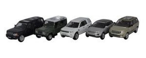 Oxford Diecast 5 Piece Land Rover Set - 76SET44