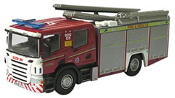 New Modellers Shop - Oxford Diecast -  Cleveland Fire & Rescue Scania Pump - SFE001