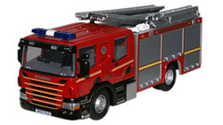 Oxford Diecast - Oxford Diecast Merseyside Fire & Rescue Service Scania CP28 Pump Ladder - 76SFE004