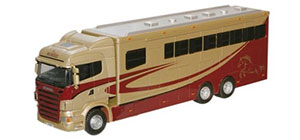 Oxford Diecast Scania Highline Horsebox - Metallic - 76SHL01HB
