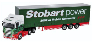 Oxford Diecast Scania Highline - Curtainside Stobart Power - 76SHL02CS