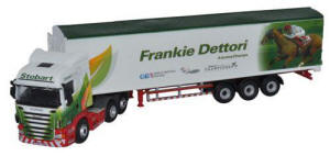 Oxford Diecast Scania Highline Walking Floor - Stobart Jockeys - Frankie Dettori - 76SHL09WF