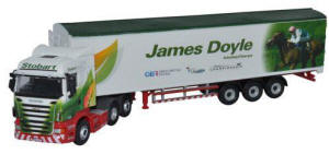 Oxford Diecast Scania Highline Walking Floor - Stobart Jockeys - James Doyle - 76SHL12WF
