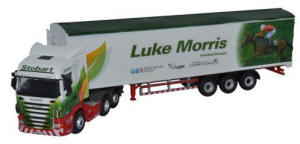 Oxford Diecast Scania Highline Walking Floor - Stobart Jockeys - Luke Morris - 76SHL13WF