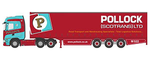 76SNG002 - Oxford Diecast Scania S Series Curtainside Pollock