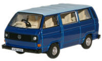 New Modellers Shop - Oxford Diecast - Cornat Blue Guinea Blue VW T25 Bus - 76T25002