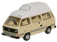 New Modellers Shop - Oxford Diecast - VW T25 Camper - Ivory - 76T25003