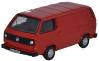 Oxford Diecast - VW T25 Van - Orient Red - 76T25007