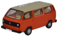 Oxford Diecast - VW T25 Bus - Ivory / Brilliant Orange - 76T25008