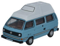 Oxford Diecast - VW T25 Camper Van - Medium Blue White - 76T25009