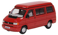 76T4001 - Oxford Diecast  VW T4 Westfalia Camper Paprika Red