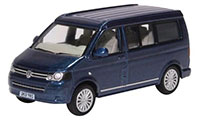 76T5C001 - Oxford Diecast VW T5 California Camper Metallic Night Blue