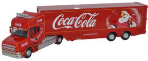 Oxford Diecast - Scania T Cab Box Trailer - Coca Cola - 76TCAB004CC